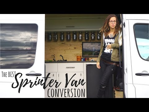 CUSTOM SPRINTER VAN CONVERSION - From Cargo Van to Off-Grid Tiny House  - VANLIFE