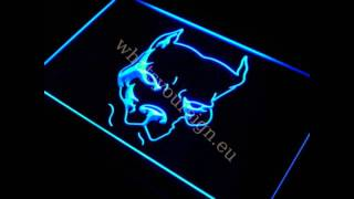 Pit Bull Terrier - Led Neon Light Sign Display