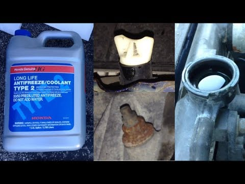 How to Replace Antifreeze/Coolant for Honda/Acura – Shown on 2002 Acura TL-S