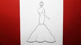 Yeni Başlayanlar İçin Çok Kolay Elbise Modelleri Nasıl Çizilir