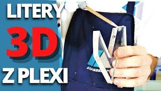 Klejenie liter 3D z Pleksi - pmma