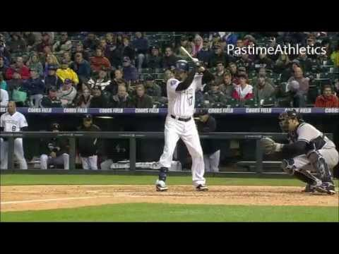 Todd Helton Slow Motion Home Run Baseball Swing Hitting Mechanics Instruction Colorado Rockies MLB