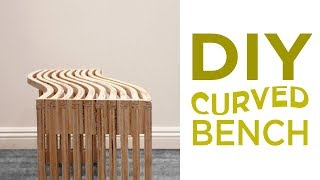 Lignum-Inspired Curved Bench / Woodworking   28