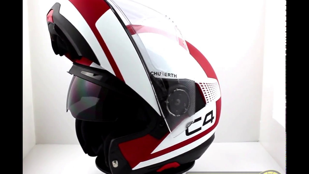 schuberth c4 flip front helmet legacy red thevisorshop. Black Bedroom Furniture Sets. Home Design Ideas