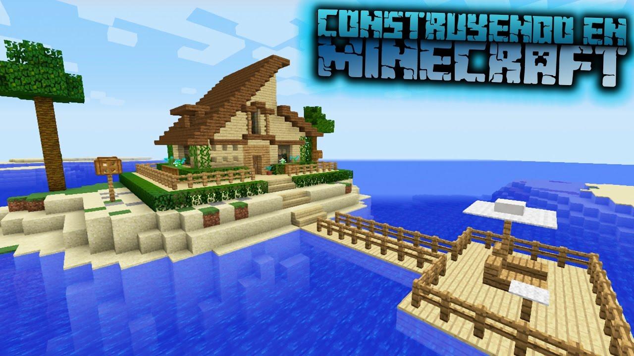 Como hacer una casa en minecraft de playa para survival for Como hacer una casa clasica en minecraft