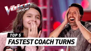 FASTEST COACH TURNS in The Voice Kids worldwide (#3)