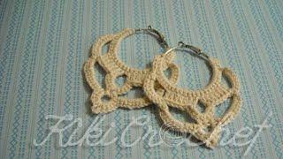 Πλεκτα Vintage Σκουλαρικια με Βελονακι/ Crochet Vintage Earrings Tutorial (english subs)