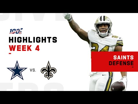 Saints D Holds Cowboys To 10 Points & 45 Rushing Yds   NFL 2019 Highlights