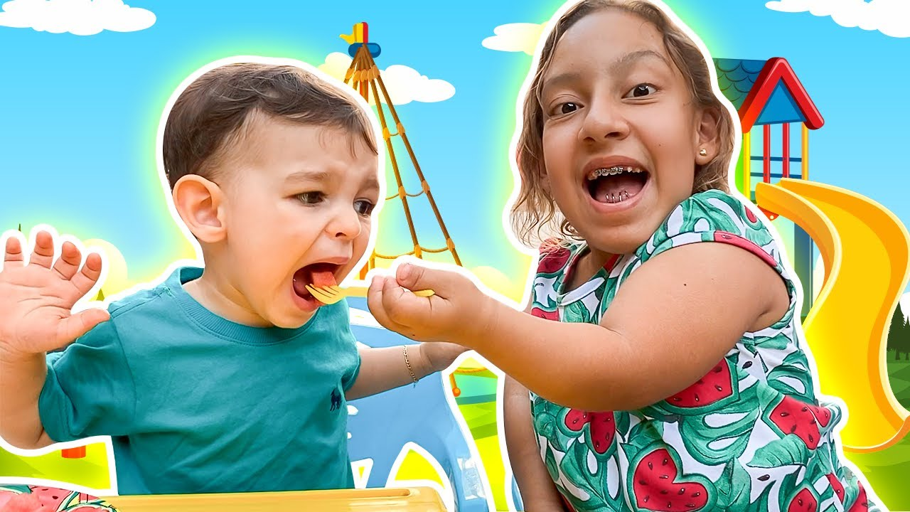 Maria Clara quer ser BOA IRMÃ para o baby JP | Wants to be a good sister for baby JP - MC Divertida