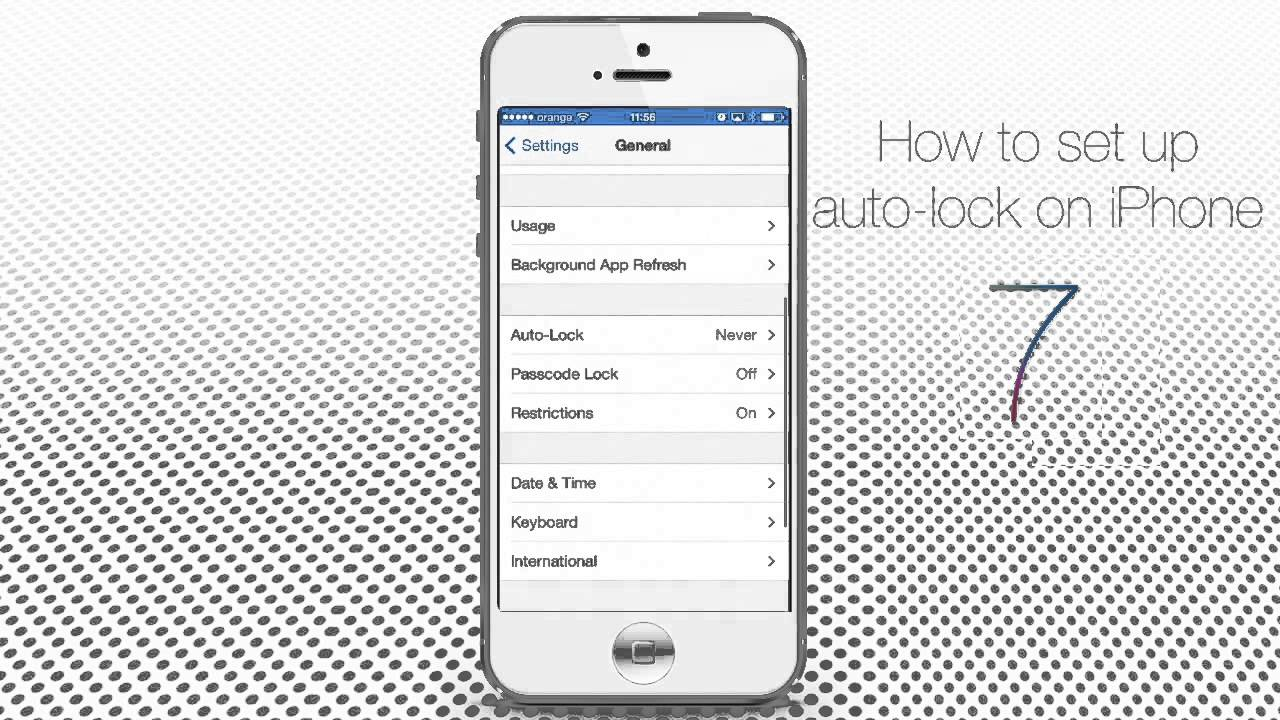 auto lock iphone how to set auto lock on iphone and 7661