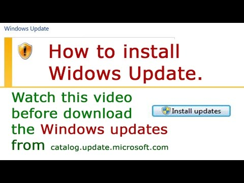 *Windows Update Error Fix* How To Download And Install Windows Update Files On Your System.