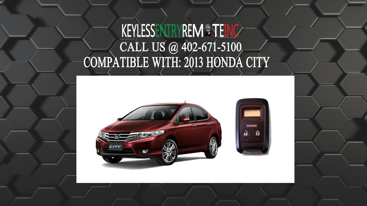 How To Replace Honda City Key Fob Battery 2013 Youtube
