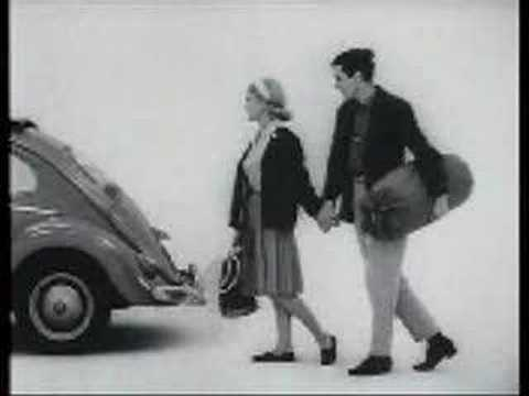 Classic vw beetle commercial