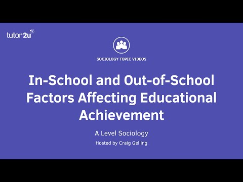 In-School and Out-of-School Factors Affecting Educational Achievement