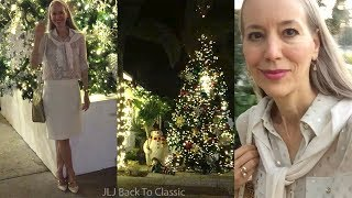 Vlog/Over 50: Dinner, Holiday Lights Naples FL; Date Night OOTD / Classic Fashion