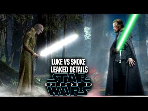 Star Wars Episode 9 Luke Vs Snoke! Leaked Details Revealed (Star Wars News)