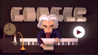 Celebrating Ludwig van Beethoven's 245th Year google doodle
