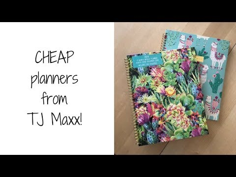CHEAP planners from TJ Maxx! - YouTube