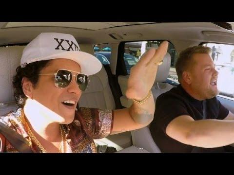 Bruno Mars shines in 'Carpool Karaoke'