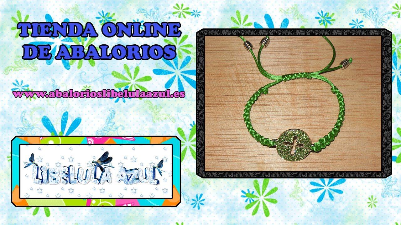 aaedad0ffa7d DIY Manualidades bisuteria - pulseras - cola de raton y strass - YouTube