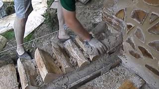 Cordwood sauna (wall tutorial)