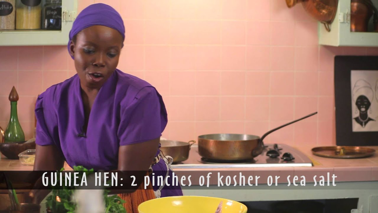 Taste Africa in Style! Healthy African Cooking! GUINEA Hen - Kale Peanut