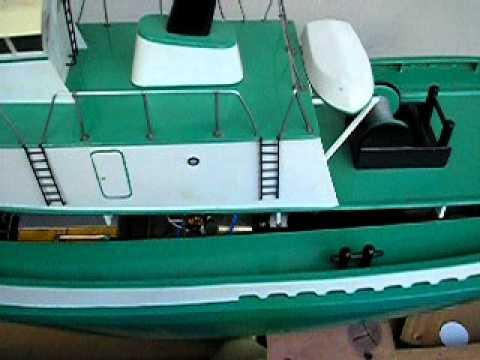 "SHELLEY FOSS RC 36"" DUMAS TUG BOAT FOR SALE - YouTube"