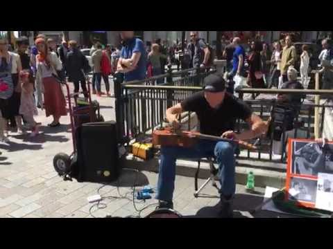 Morf, Driving Fast (INSANE GUITAR TAPPING) - Busking in the streets of London, UK