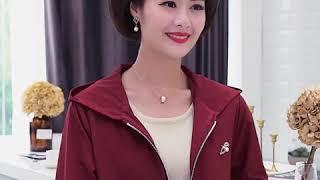 kirahosi 여성 트렌치 코트 중년 엄마 재킷 21…