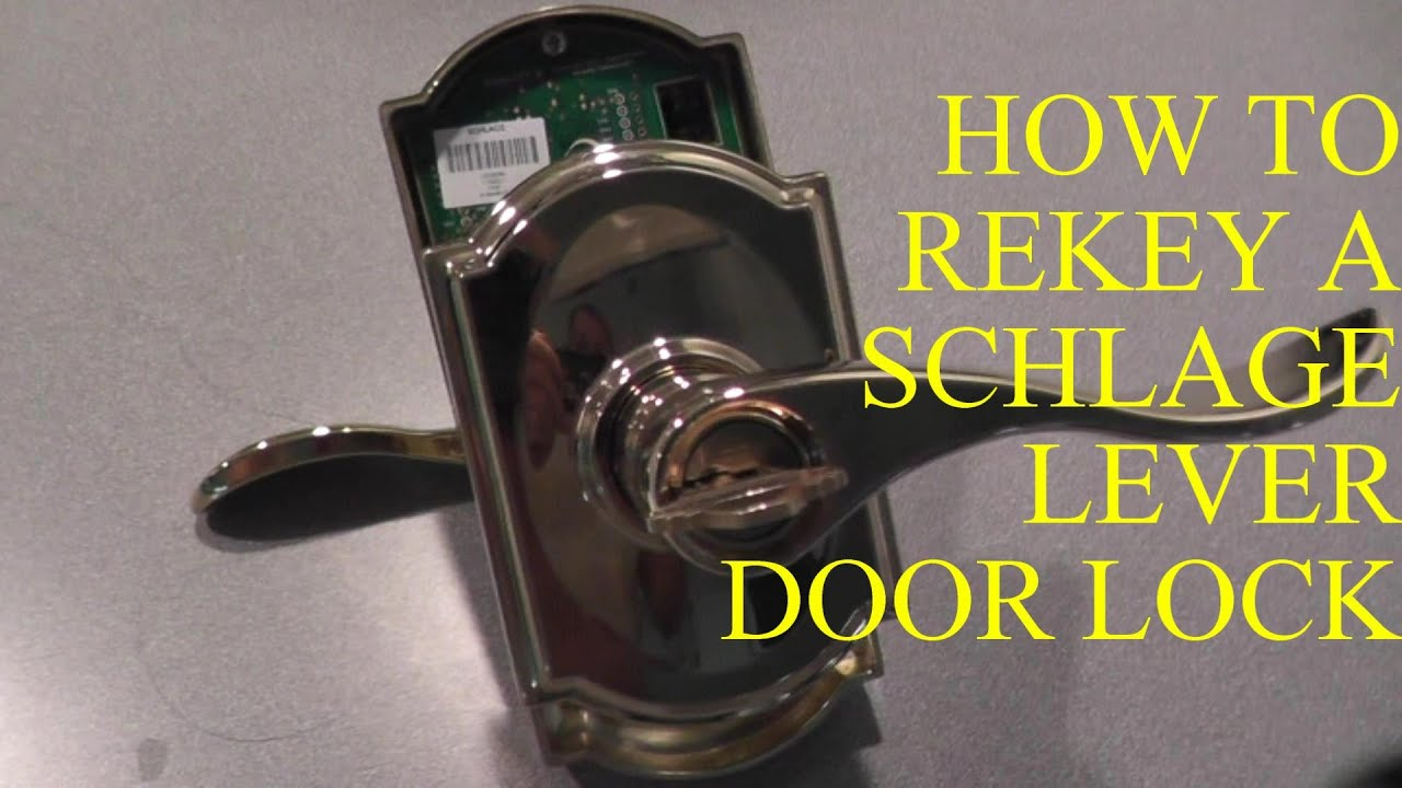 how to rekey a schlage lever lock youtube. Black Bedroom Furniture Sets. Home Design Ideas