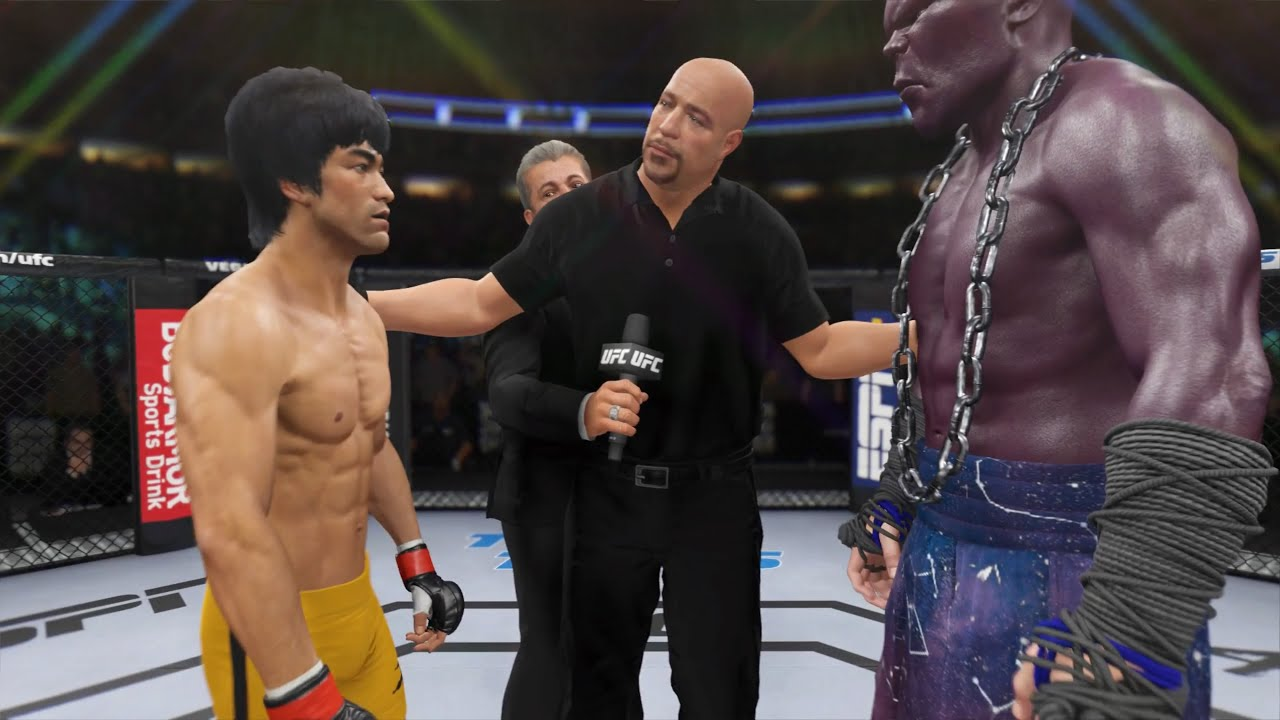 Download Bruce Lee vs. Titan Atlas - EA Sports UFC 4 - Epic Fight 🔥🐲