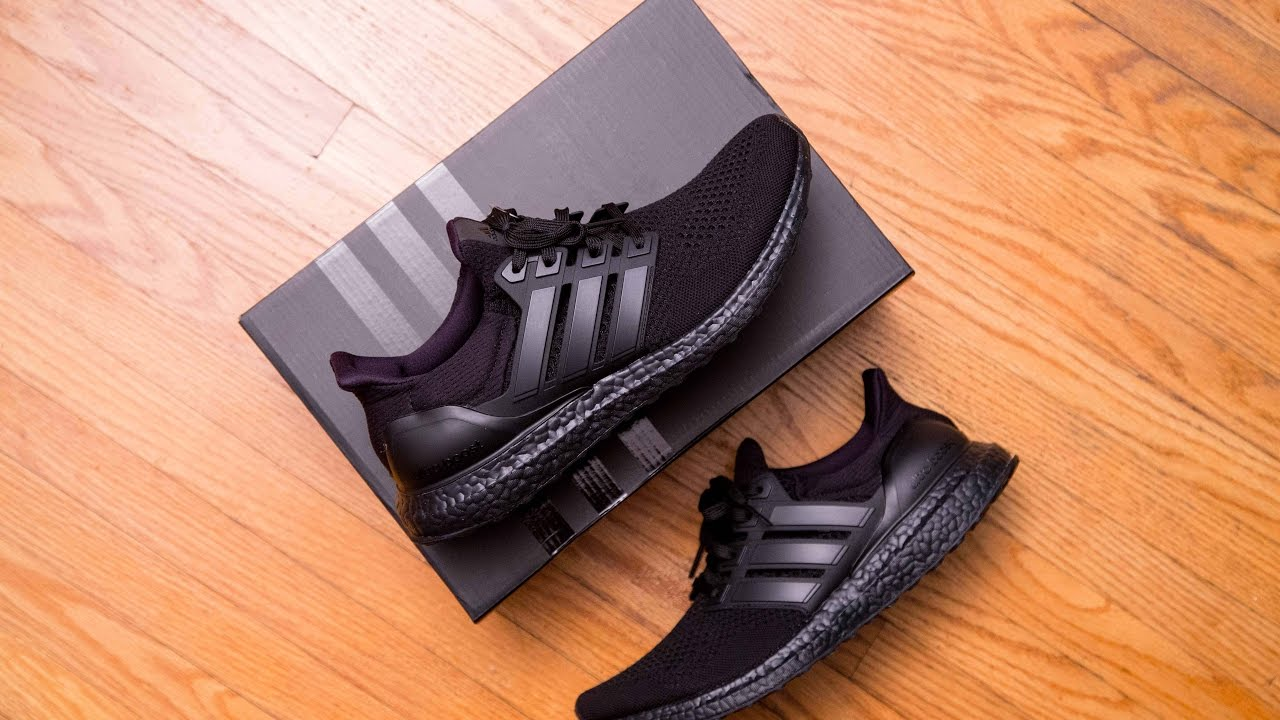 99961a61b26b4 Adidas Ultra Boost LTD Triple Black Review and On Feet - YouTube