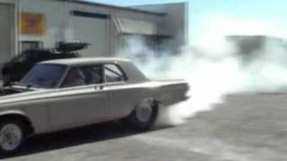 Fletch's burnout - '64 Plymouth