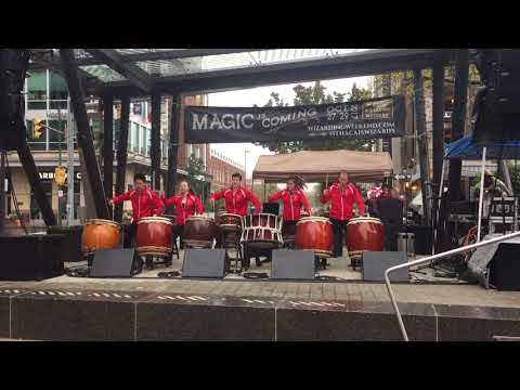 Yamati Drumming performs at the Main Stage during Wizarding Weekend in Ithaca