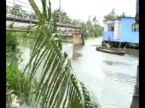 Shots of Suva the effects of Cyclone Evan