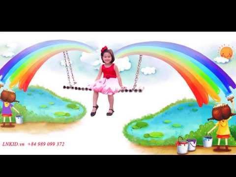 Váy trẻ em LNKID.vn-G009 với 7 sắc màu Cầu Vồng.