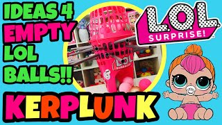 GIANT LOL SURPRISE KERPLUNK GAME! What To Do With EMPTY L.O.L BALLS! LOL Ball Pop! Family Fun Games!