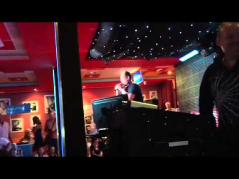 Kenneth from Benidorm sings karaoke at a special charity ni