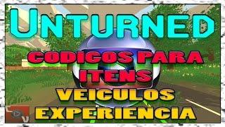 Unturned 3.0 - CODIGOS PARA ITENS, VEICULOS E XP - Use para o bem! XD