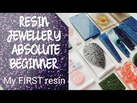 RESIN JEWELLERY for beginners  *First time trying resin*