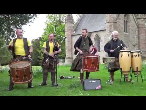 Scottish tribal band Clann an Drumma playing