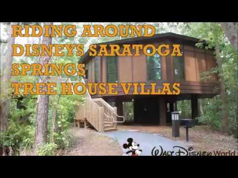 Riding Around Disney World's Saratoga Springs Resort - Tree House Villas