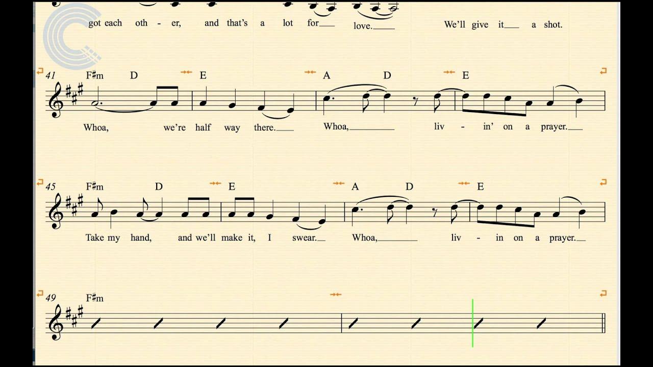 Clarinet   Livin on a Prayer   Bon Jovi   Sheet Music, Chords, & Vocals