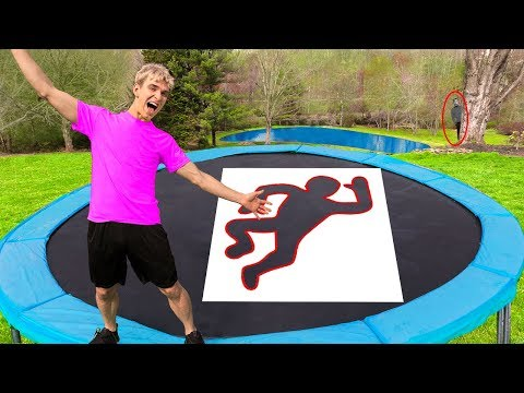 Jumping Through IMPOSSIBLE Shapes! (Game Master Spy Gadget Trampoline Challenge)