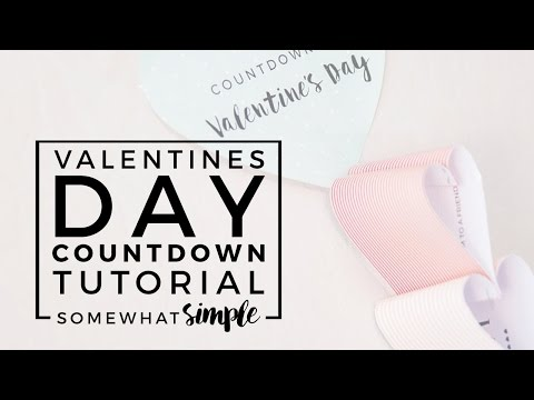 Easy Valentine's Day Countdown Chain - Great Valentine's Day Craft for Kids