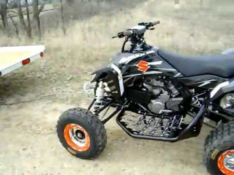 Suzuki LTR-450 Quad KfX 450 YFZ 450 walkaround - YouTube
