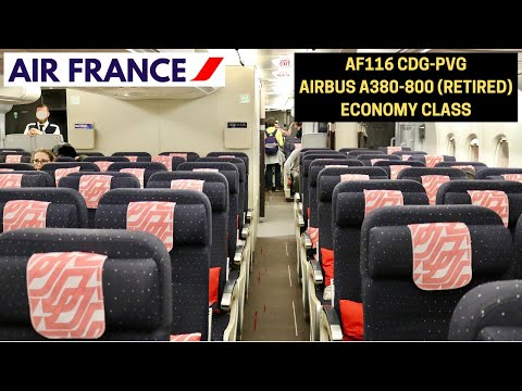 Air France AF116 Paris CDG ✈ Shanghai PVG (Airbus A380-800 - Economy Class) FLIGHT REPORT #8