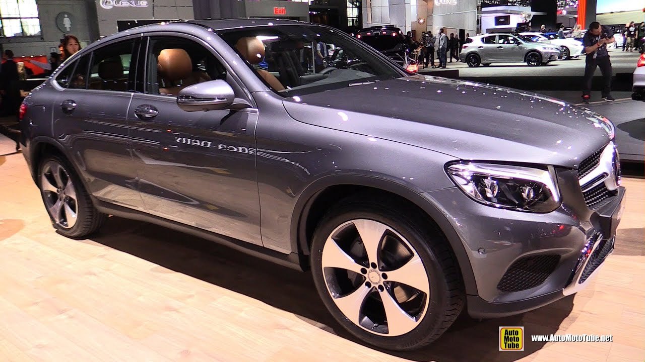 2017 mercedes glc class coupe exterior and interior walkaround debut at 2016 new york auto show youtube