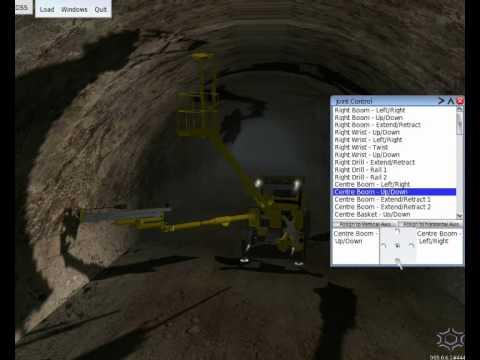 DigitalSpace: Drill Jumbo underground mining simulation for Atlas-Copco (version 1)
