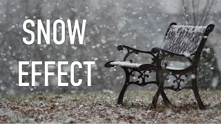 How to add SNOW FX EFFECTS in Video - Adobe premiere pro Video effects Beginners Tutorial 2016
